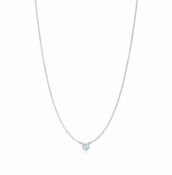 Silver and diamond necklace, £285 by Tiffany