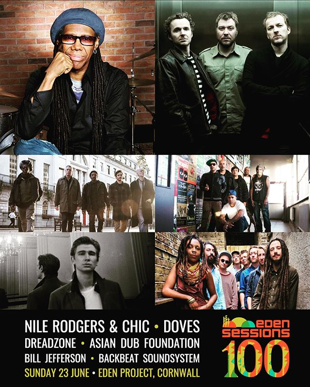 En route to @edenprojectcornwall to share a stage with the mighty @nilerodgers and Chic as well as @dreadzonemusic & @asian_dub_foundation ! On stage at 13:45. Let's reggae. 🔥🔥🔥 #backbeatsoundsystem #letsreggae #freakout #edensessions #nilerodgers #edenproject