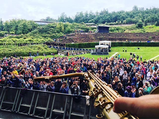 #SAXCAM! Thanks to you all for braving the rain for the @edensessionsofficial. Roll on @dreadzonemusic  @nilerodgers & Chic  #band #reggae #eden #edeproject #cornwall #festival #summer #sax #saxophone #saxcam