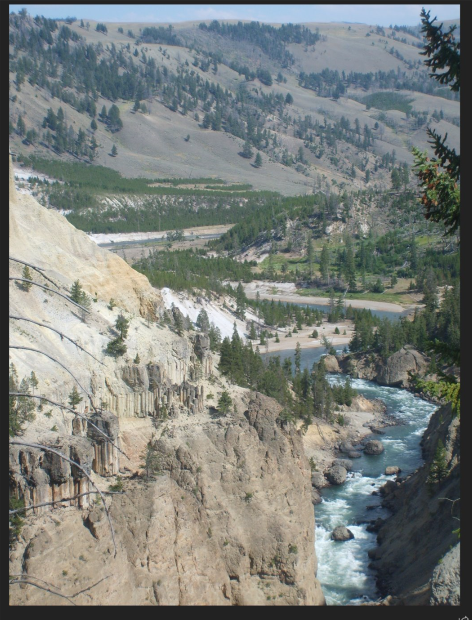Yellowstone Mountain and River