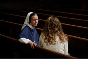 Nun listening