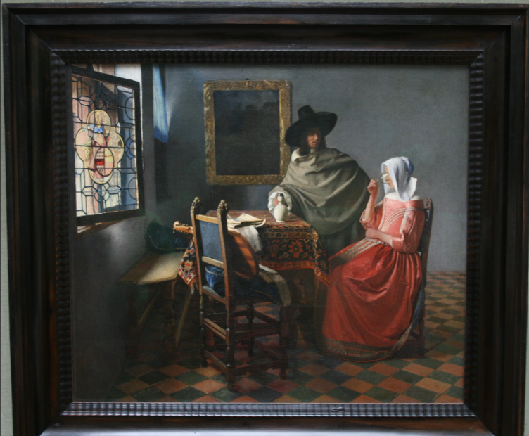 Vermeer's The Wine Glass Lovely atmosphere for appreciating finer things