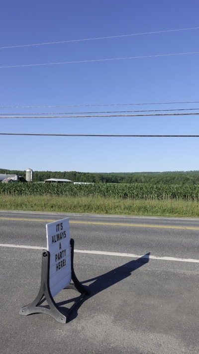 Grafton County, NH, summer 2018   res ipsa loquitur — though I'll point out, that's feed corn, not eatin' corn in that field, in case you're interested (photo: H. Dinin © 2018)