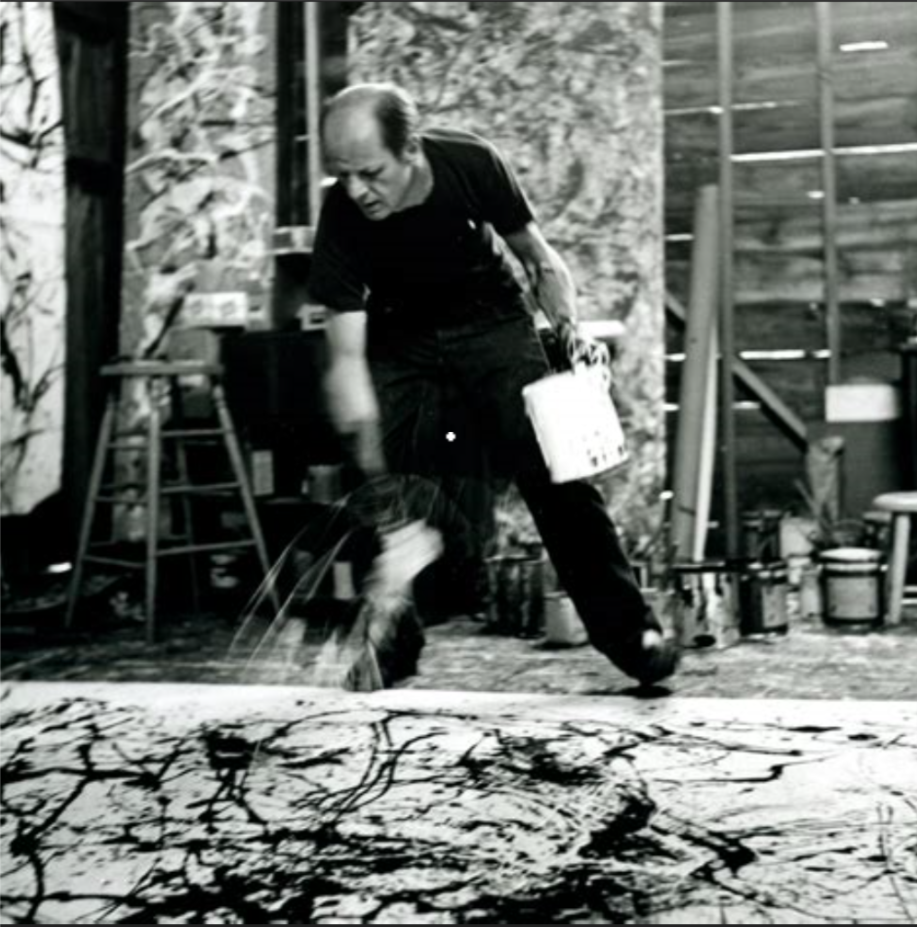 Paul Jackson Pollock  (January 28, 1912 – August 11, 1956) was an American painter and a major figure in the  abstract expressionist  movement.   He was well known for his unique style of  drip painting .  During his lifetime, Pollock enjoyed considerable fame and notoriety; he was a major artist of his generation.   Regarded as  reclusive , he had a volatile personality, and struggled with  alcoholism  for most of his life.   In 1945, he married the artist  Lee Krasner , who became an important influence on his career and on his legacy.  Pollock died at the age of 44 in an alcohol-related single-car accident when he was driving.