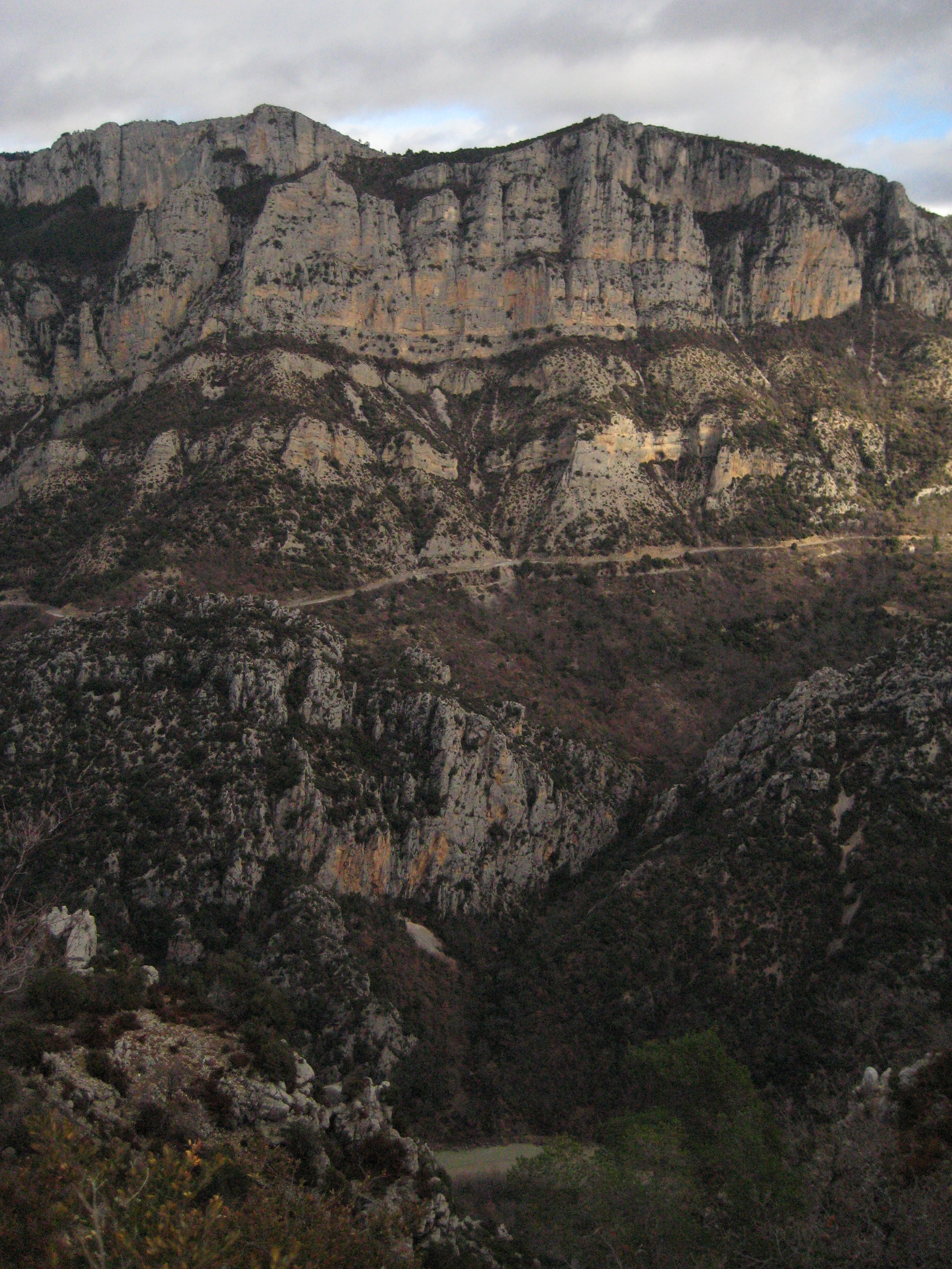 """""""The Grand Canyon of France"""" aka  Gorges de Verdon.  One view."""