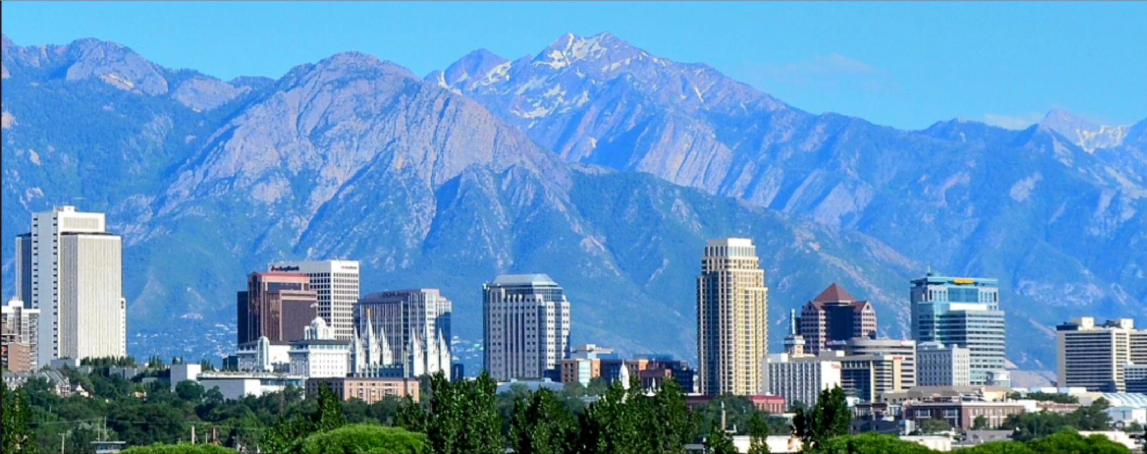 One of the great things about SLC are the Wasatch Mountains. So close they enrich the city with a mystical feel, consonant with the religious fervor of the saints.