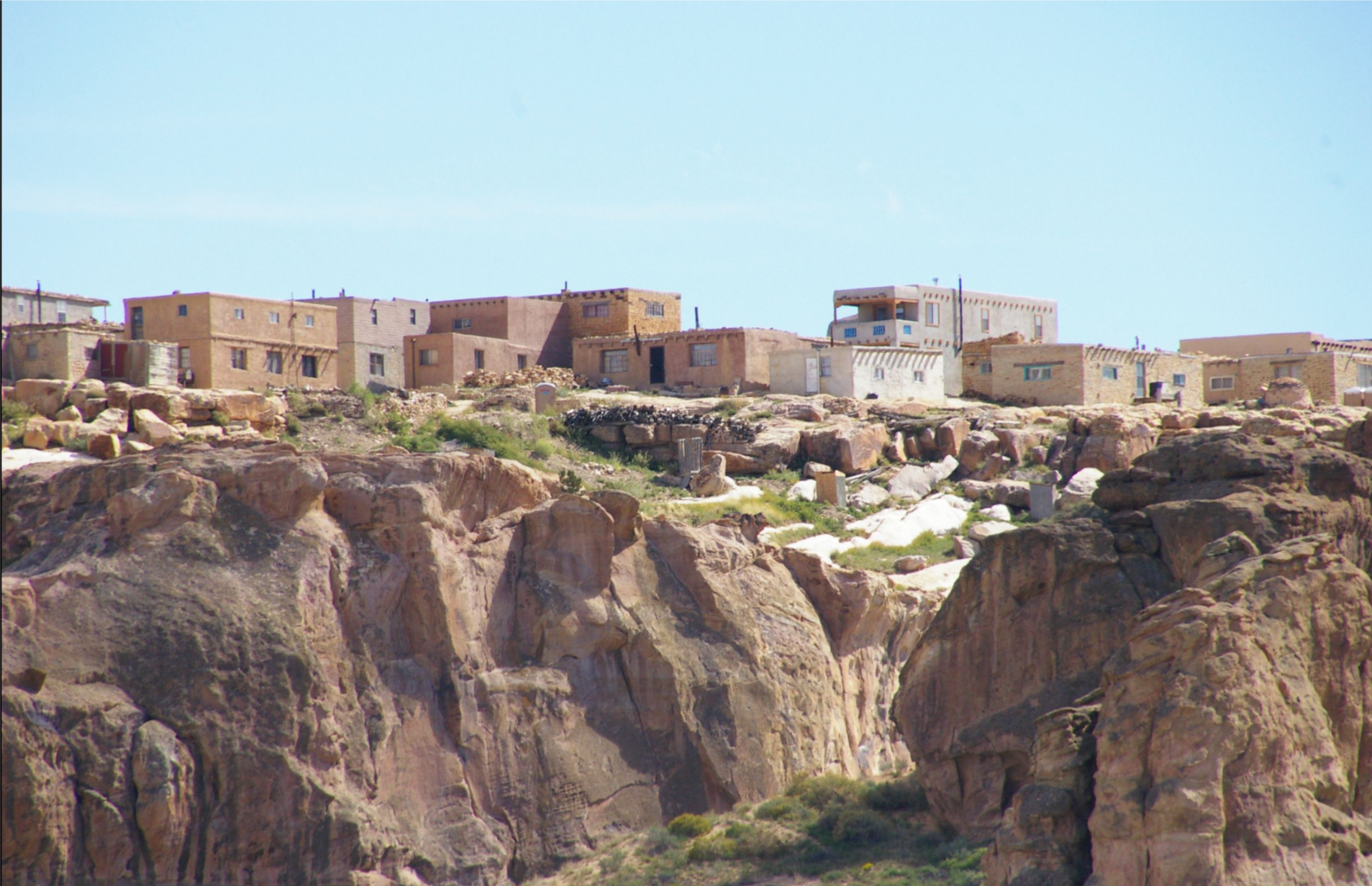 Dwellings on the Acoma Pueblo in New Mexico.