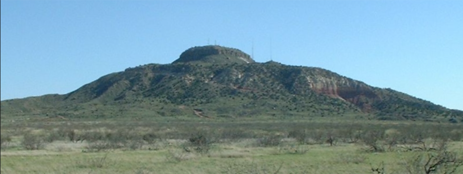 Tucumcari mountain Lots of green for such a hot part of the world.