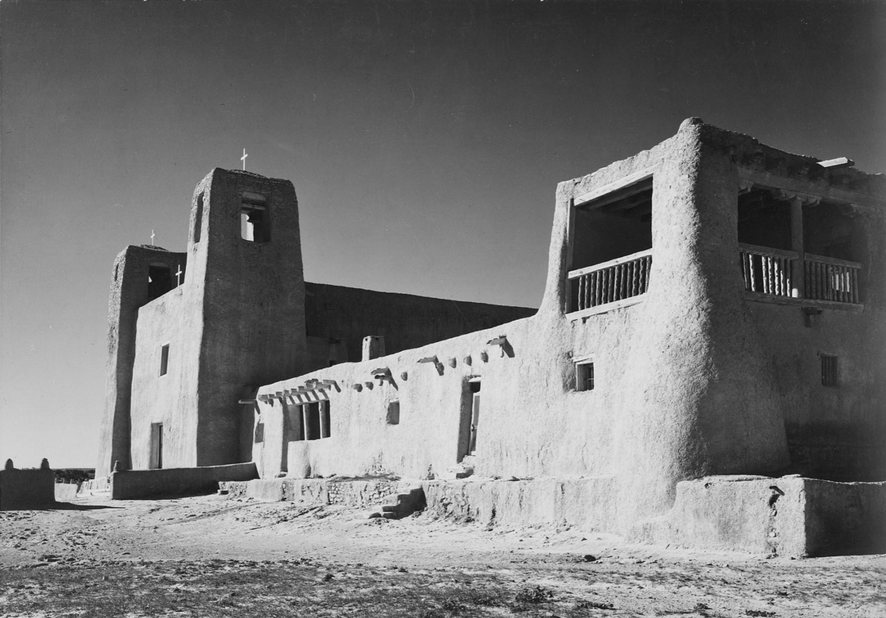Mission San Esteban Rey was built c.1641, photograph by  Ansel Adams , c.1941