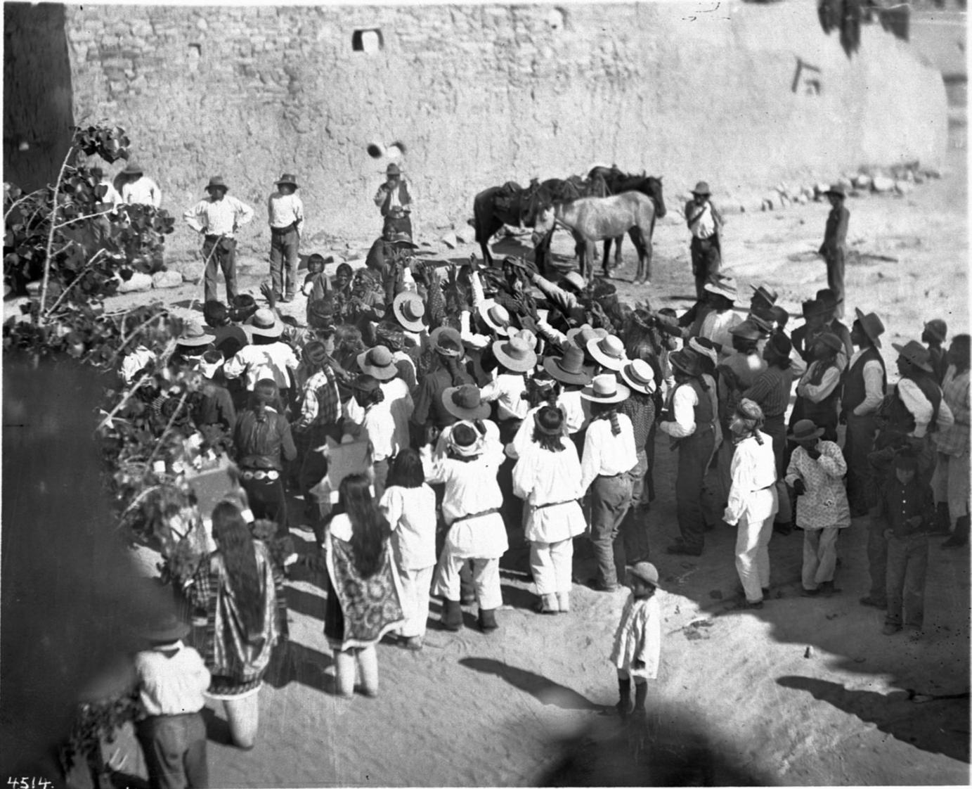 Fiesta de San Esteban, Acoma Pueblo, ca. 1900