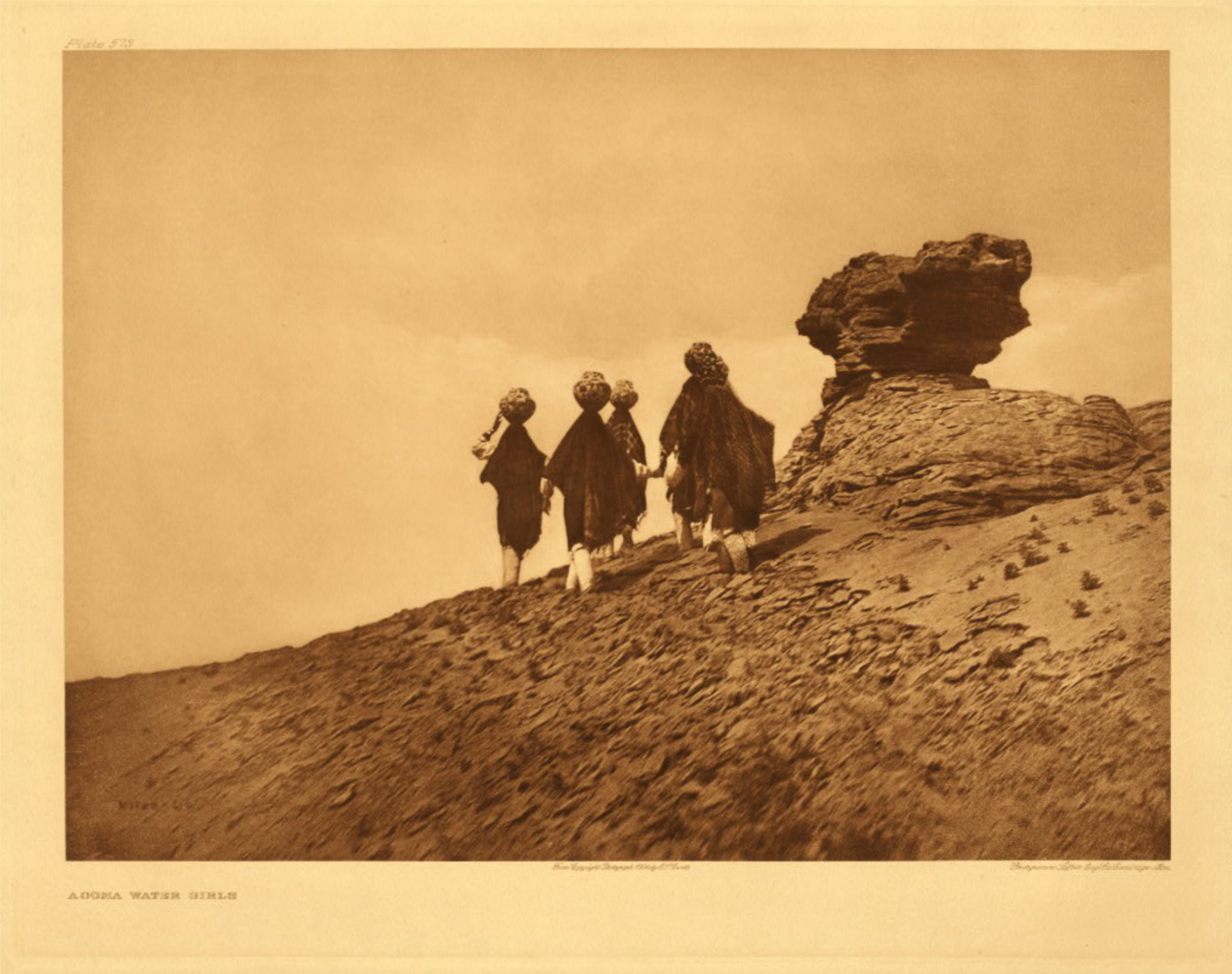 Acoma water girls by  Edward S. Curtis