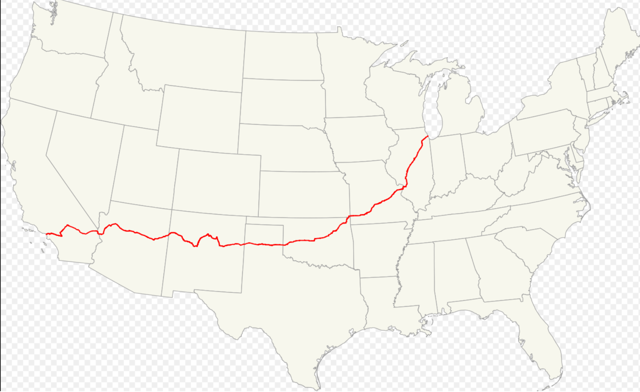 The route 66; America's highway. And I don't mean Lewis and Clark.