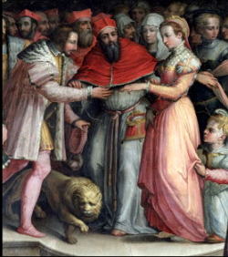 Catherine and Henry's marriage, painted seventeen years after the event