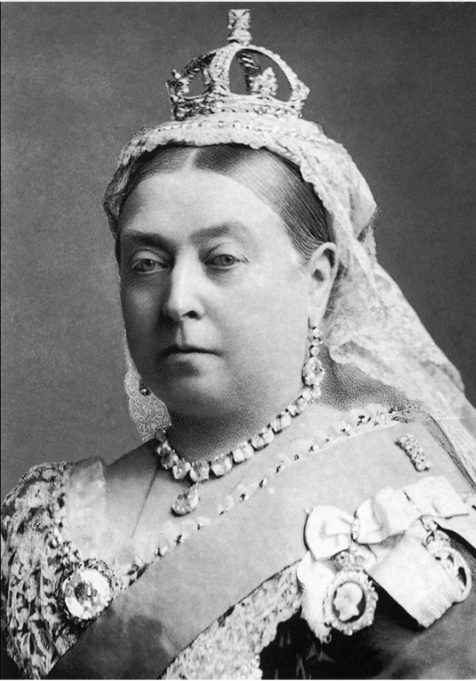 Victoria (Alexandrina Victoria; 24 May 1819 – 22 January 1901) was Queen of the United Kingdom of Great Britain and Ireland from 20 June 1837 until her death.   On 1 May 1876, she adopted the additional title of Empress of India.