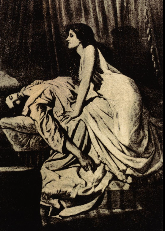 """""""That wasn't garlic, you idiot.  It was a shallot.  I got the recipe right on this website: Chicken with artichokes and shallots. And I love shallots. You idiot.""""  The Vampire, by Philip Burne-Jones, 1897    Photo compliments of Wikipedia from the public domain.  Philip Burne-Jones - https://culturacolectiva.com/art/vampire-paintings/"""