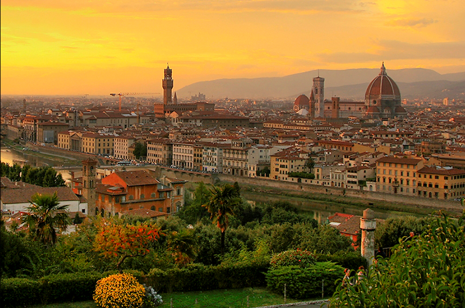 View of  Florence , birthplace of the Renaissance   Photo compliments of Wikipedia from the public domain. Steve Hersey - https://www.flickr.com/photos/sherseydc/2954982676/