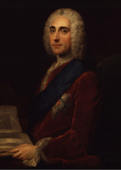 The Earl of Chesterfield  invented the term 'etiquette' in the mid-18th century. Painting by  William Hoare .   William Hoare  - one or more  third parties have made copyright claims against Wikimedia Commons in relation to the work from which this is sourced or a purely mechanical reproduction