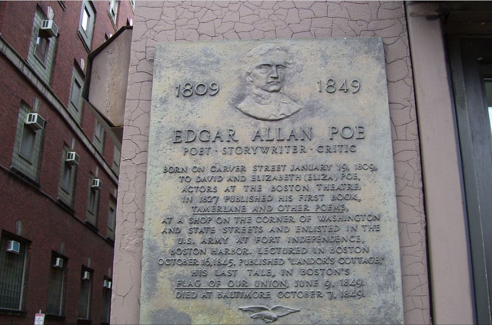 edgar allan poe plaque on birthplace.png