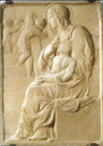 Madonna della scala, a low-relief by Michelangelo, Florence, Casa Buonarotti Michelangelo - www.akg-images.co.uk/.../ rabattidomingie.html   Michelangelo's first professional work