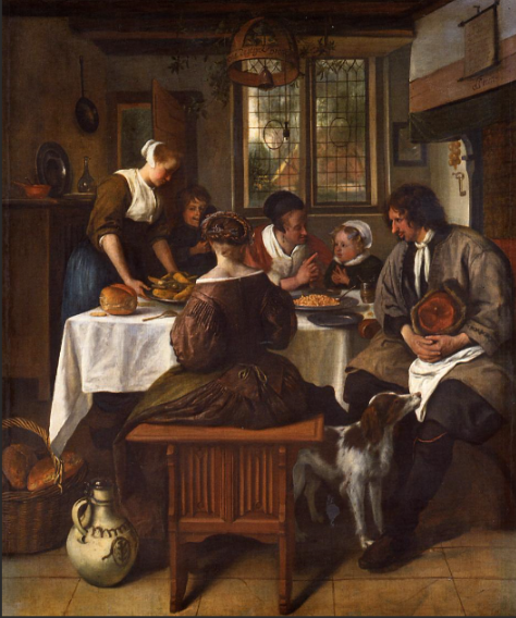 Family Meal Jan Steen