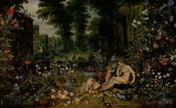 """Smell"", from Allegory of the Senses by Jan Brueghel the Elder, Museo del Prado  Jan Brueghel the Elder -  The Yorck Project (2002) 10.000 Meisterwerke der Malerei (DVD-ROM),  distributed by DIRECTMEDIA Publishing GmbH. ISBN: 3936122202."