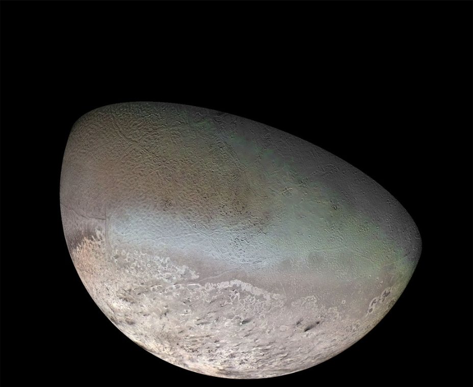 Neptune's moon Triton has a surface temperature of −235 °C (−391 °F)
