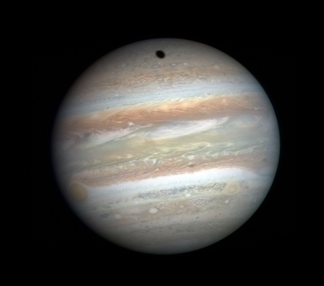 Jupiter with a black-body temperature of 110.0 K (−163.2 °C, −261.67 °F).