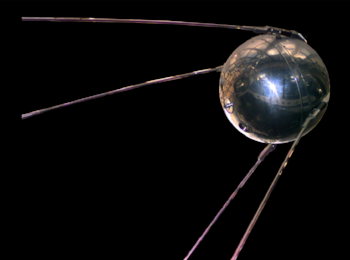 Skies unlimited. A revelation. Sputnik. A blow to American pride. A rallying cry to our scientists.