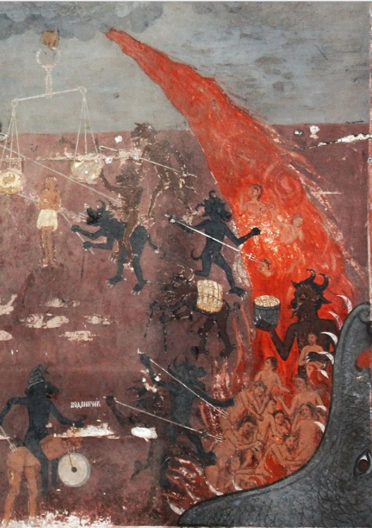 Hell – detail from a fresco in the medieval church of St Nicholas in Raduil, Bulgaria Edal Anton Lefterov - Own work