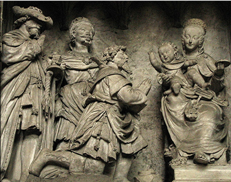 sculpture adoration of magi chartres.png