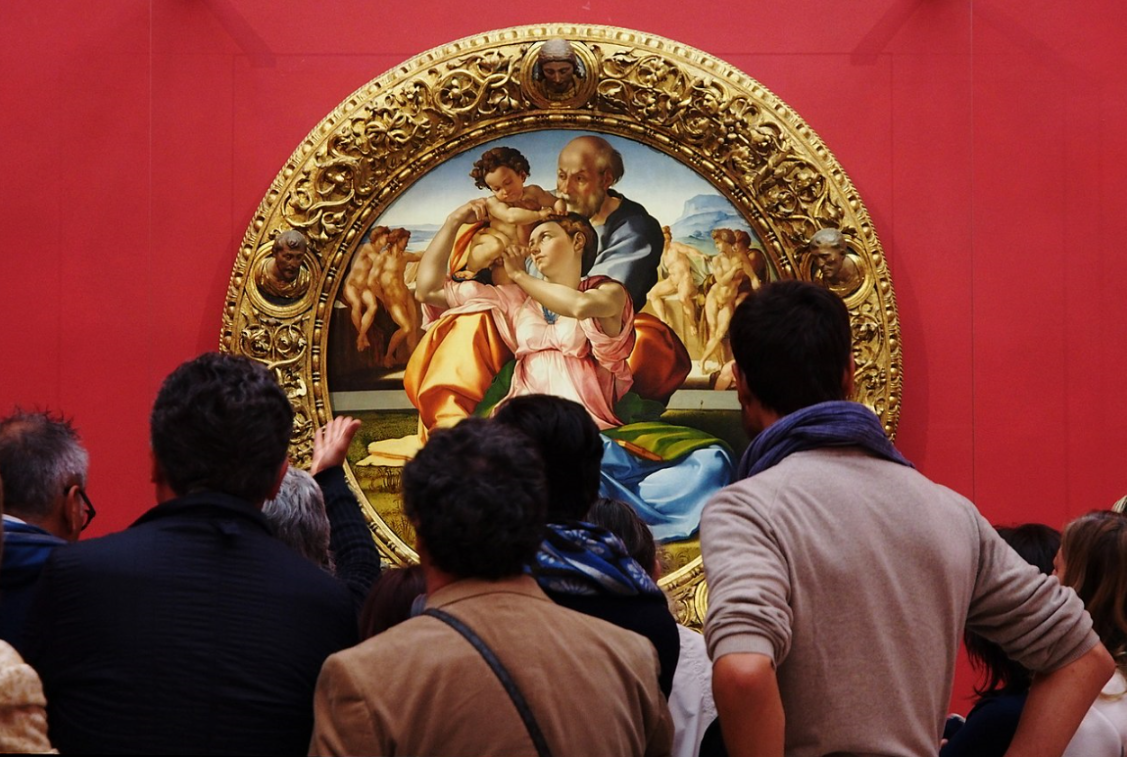 michelangelo doni tondo with visitors.png