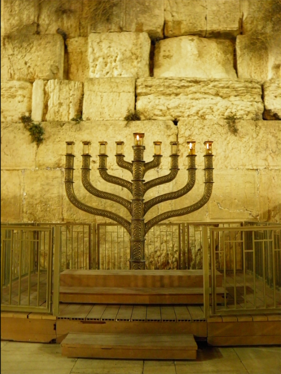 hanukkah second nght at Jerusalem's Western Wall.png