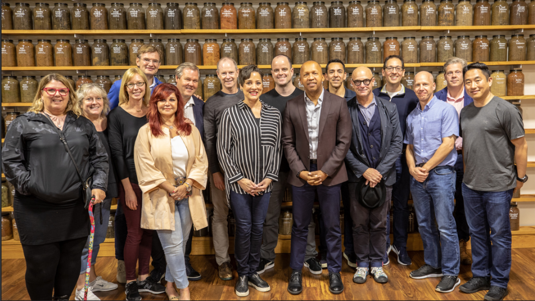The Microsoft team that will digest their shared experiences and use them to develop ideas going forward. Chris is fourth from right. Bryan Stevenson is the only African American in the picture. That might give the team something to think about. The jars that are in the background contain soil from the counties in which lynchings have occurred.