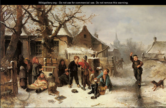 Winter Fun - Johan Mari Ten Kate -  WikiGallery.org,