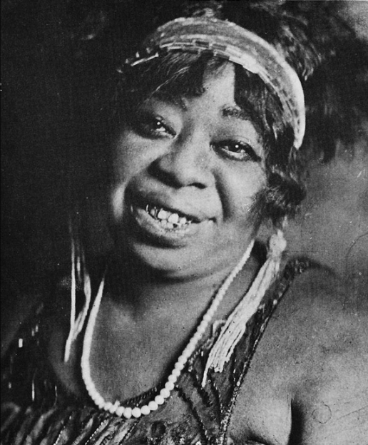"American blues singer Ma Rainey (1886–1939), the ""Mother of the Blues"""