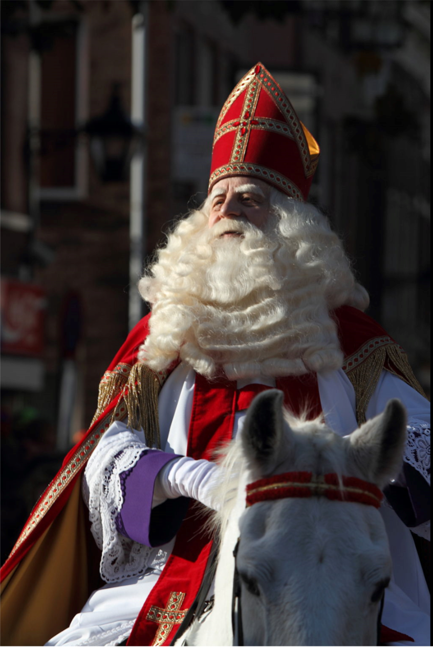 Sinterklaas, Netherlands (2009) on his horse called Slecht Weer  Vandaag  or  Amerigo