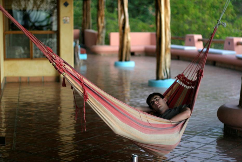 Napping in hammock. Costa Rica.