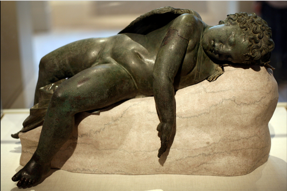 Bronze statue of Eros sleeping, 3rd century BC–early 1st century AD