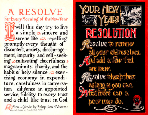 new years resolutions Early 20th-century New Year's resolution postcards.png