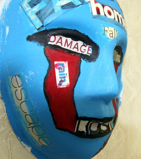 A mask, painted by a Marine who attends art therapy to relieve post-traumatic stress disorder symptoms, is displayed at an art expo May 3. The expo provided a way to raise awareness about PTSD and the benefits of art therapy. During therapy sessions, participants use a variety of art supplies, including paints, clay, markers, charcoal and images for collages, to express their thoughts, feelings and memories. (Official U.S. Marine Corps photo by Cpl. Andrew Johnston)   Art therapy  project created by a  U.S. Marine  with posttraumatic stress disorder    Specialty      Psychiatry ,  clinical psychology    Symptoms  Disturbing thoughts, feelings, or  dreams  related to the event; mental or physical distress to trauma-related cues; efforts to avoid trauma-related situations; increased  fight-or-flight response  [1]     Complications      Suicide  [2]    Duration  > 1 month [1]    Causes  Exposure to a traumatic event [1]     Diagnostic method     Based on symptoms [2]    Treatment  Counseling, medication [3]    Medication   Selective serotonin reuptake inhibitor  [4]    Frequency  8.7% ( lifetime risk ); 3.5% ( 12-month risk ) (USA) [5]