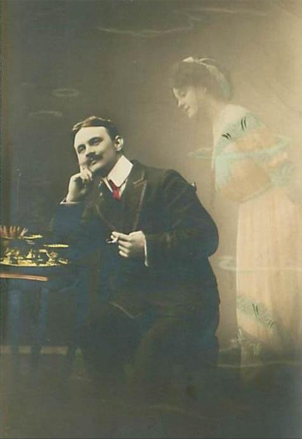 Daydreaming gentleman 1912