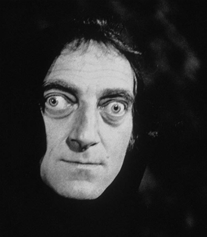 "Many memorable moments, like the classic line delivered by Igor, the hunchback, ""Walk this way,"" Dr. Frankenstein then mimicking Igor's walk. Marty Feldman terrific as Igor."