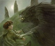 The Barrow-wights were shape-shifting beings of darkness, similar in circumstance to Wraiths, who dwelt in dark places of Eriador such as the Barrow-downs. The characteristic of shape-shifter gave Barrow-wights the ability to reanimate whatever life-form they wished. The ones which attacked the four Hobbits reanimated the corpses of the Kings of the Barrows.