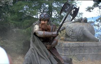 The sixth member of the Fellowship. Of the race of Dwarfs, Gimli began the quest with an undying distrust of the Elves.