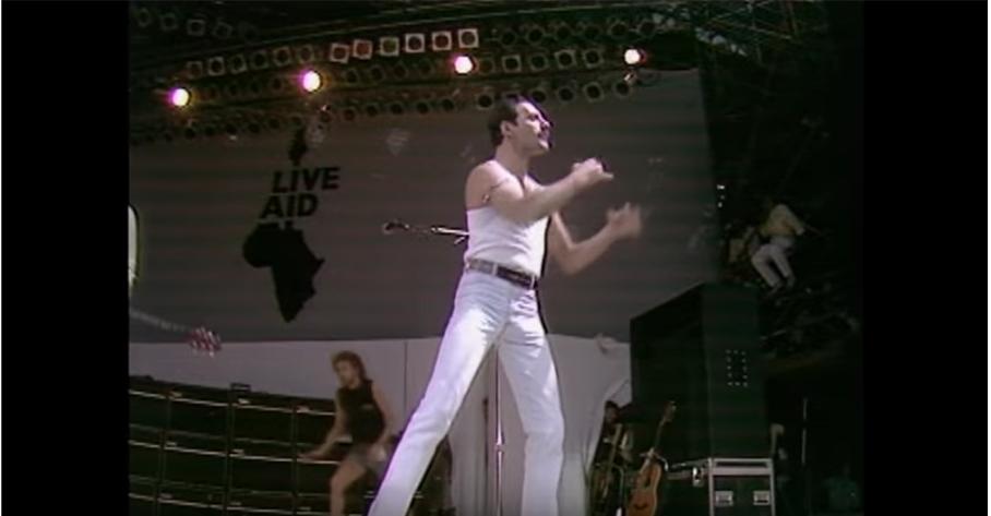 Queen — Freddie Mercury at Live Aids.