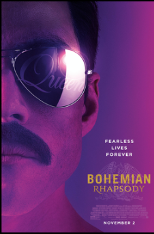 This is a poster for Bohemian Rhapsody.   The poster art copyright is believed to belong to the distributor of the item promoted, the publisher of the item promoted or the graphic artist.