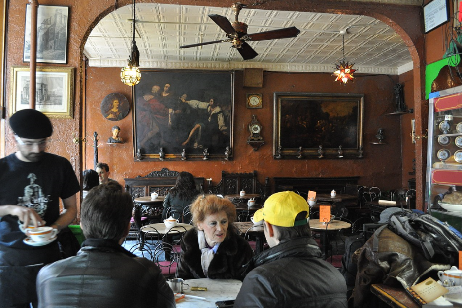 Caffe Reggio on MacDougal Street in New York City's Greenwich Village was founded in 1927 Joe Mabel