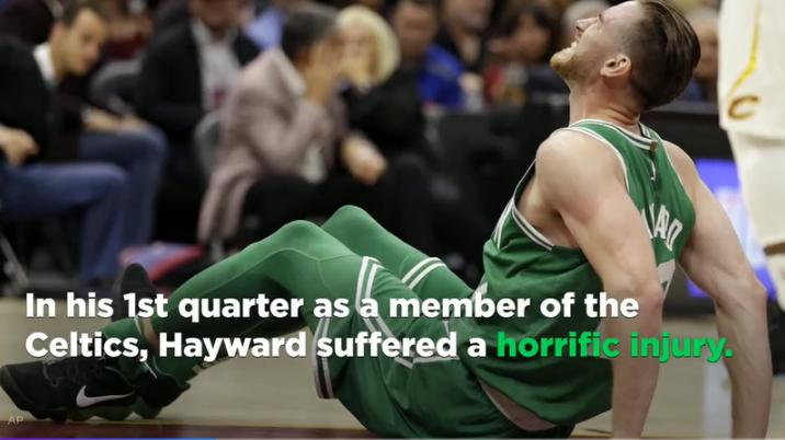 Hayward in pain.