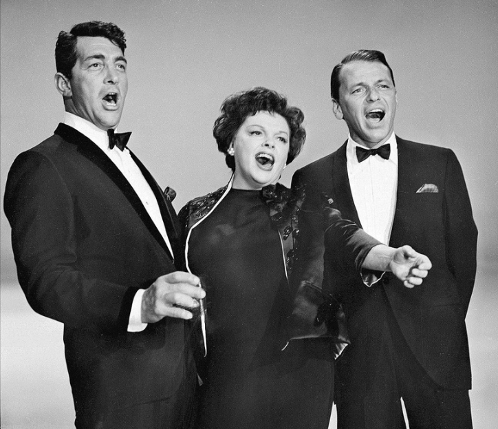Sinatra with Dean Martin and Judy Garland in 1962.