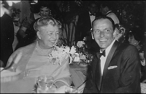 Sinatra, pictured here with Eleanor Roosevelt in 1960, was an ardent supporter of the Democratic Party until the early 1970s.